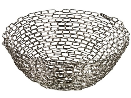 Handmade Recycled Metal Chain Bowl