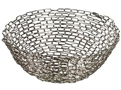 Handmade Recycled Metal Chain Bowl
