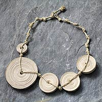 Knotted Sideways Necklace