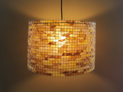 Rustic Hanging Light Drum Shade
